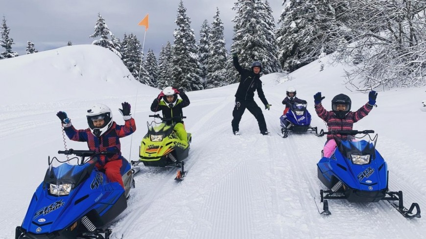 cette semaine   sur Alpes 1avec  GTR MOUNTAIN  En motoneige …