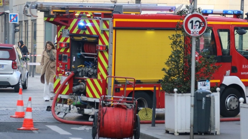 Echirolles : incendie de la cafétéria du supermarché Casino