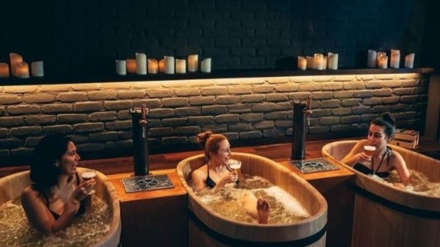 Un spa propose des bains de bière !