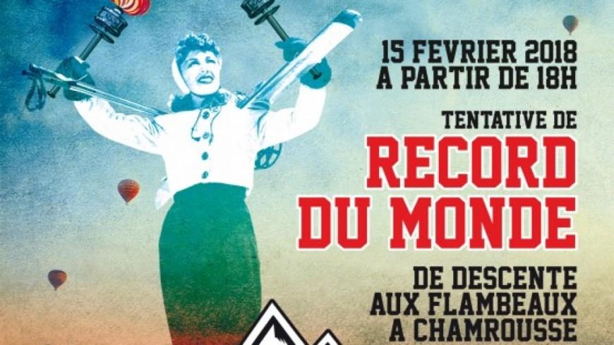 Chamrousse: le record de descente aux flambeaux n'est pas tombé
