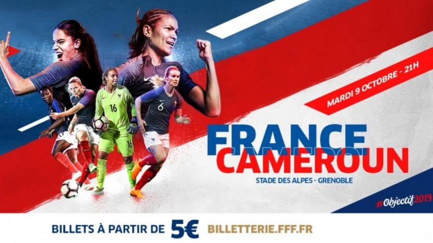 Grenoble : l'équipe de France féminine de foot face au Cameroun