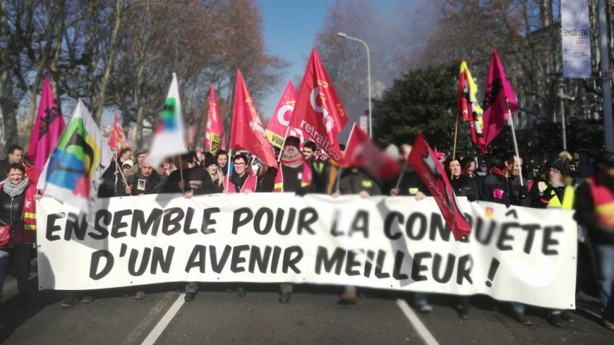 Grève interprofessionnelle : entre 2000 et 5000 personnes manifestent à Lyon