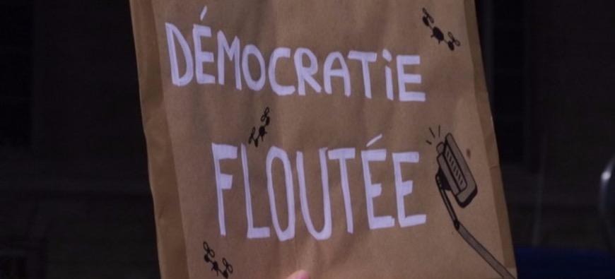 """Grenoble : manifestation contre la loi """"sécurité globale"""""""