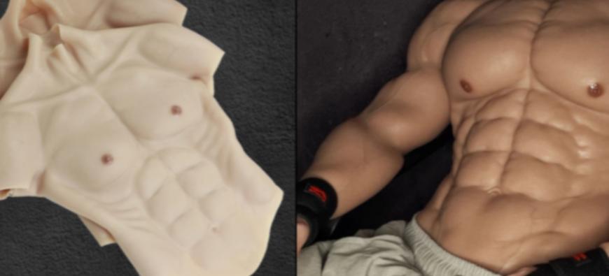 Découvrez le costume de muscles en silicone pour être musclé cet été ! (photos)