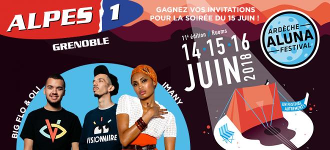 Gagnez vos invitations pour l'Ardèche Aluna Festival !