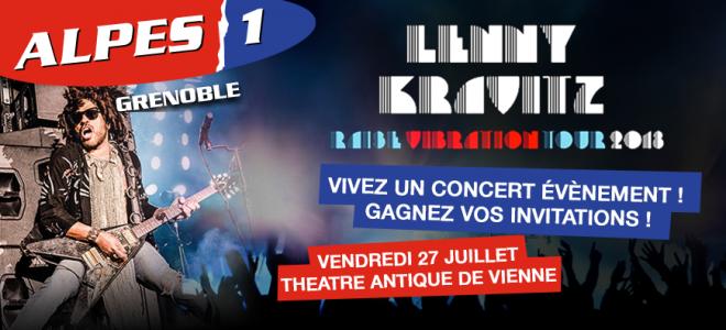Gagnez vos invitations pour le concert de Lenny Kravitz !